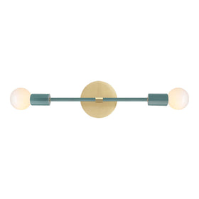 brass lagoon scepter sconce vanity lighting wall sconce by Dutton Brown.