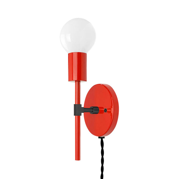 black red sicle plug-in sconce lighting by dutton brown