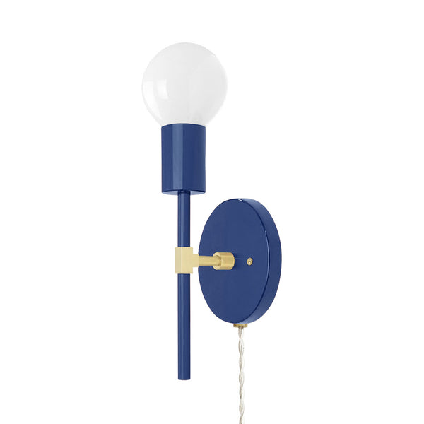 brass cobalt sicle plug-in sconce lighting by dutton brown