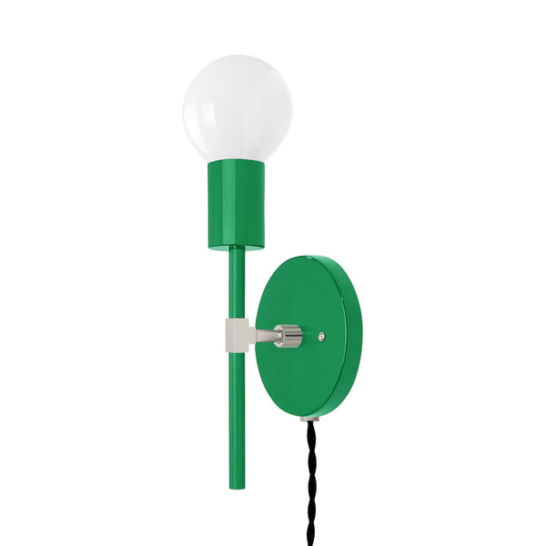 nickel kelly green sicle plug-in sconce lighting by dutton brown