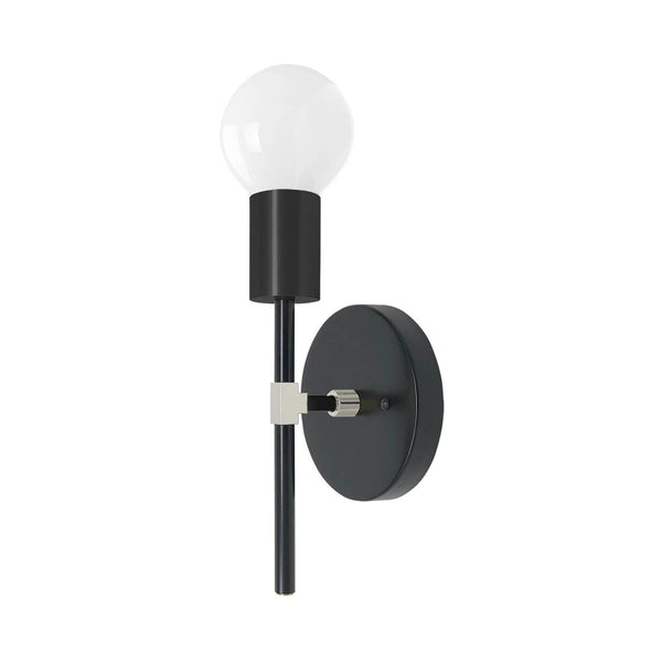 black and nickel sicle wall sconce dutton brown lighting