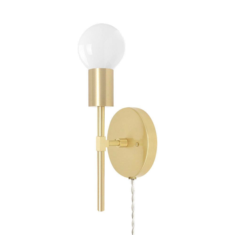 brass sicle plug-in wall sconce lighting by dutton brown