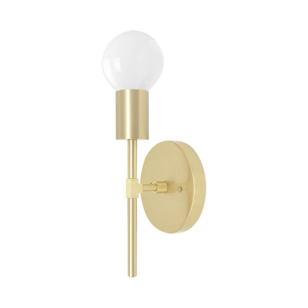 brass sicle wall sconce dutton brown lighting