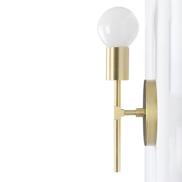 brass sicle wall sconce dutton brown lighting _hover