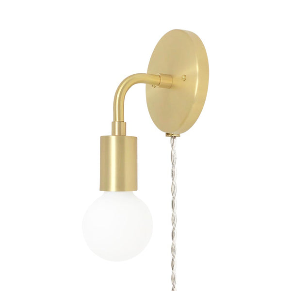brass snug plug in wall sconce dutton brown lighting