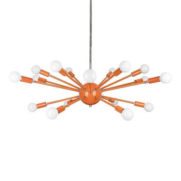 orange nickel color elliptical sputnik chandelier 32 dutton brown lighting
