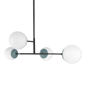 black lagoon status globe chandelier 35 inches dutton brown lighting
