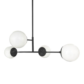 "black status globe chandelier 35"" lighting by dutton brown"