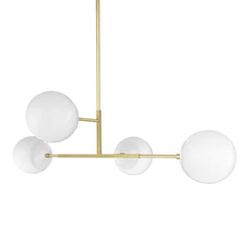 brass white status globe chandelier 35 inches dutton brown lighting