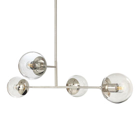 "nickel status globe chandelier 35"" lighting by dutton brown"