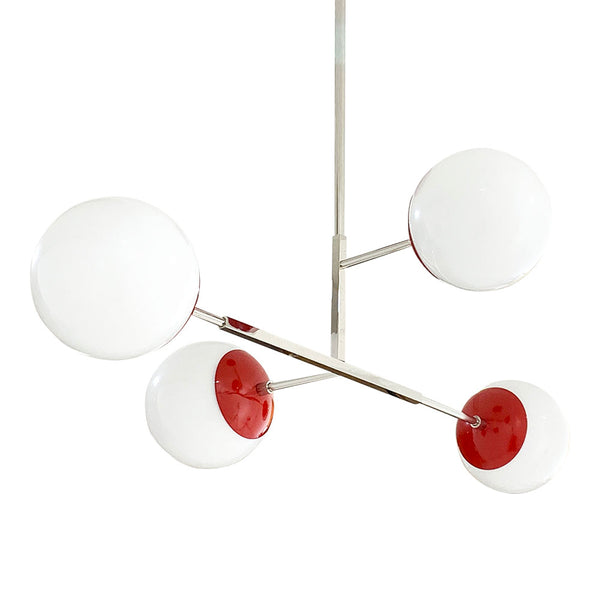 red nickel status globe chandelier lighting by dutton brown _hover