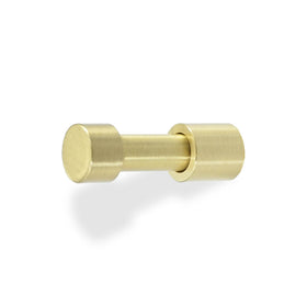 stud hook hardware satin brass by Dutton Brown.