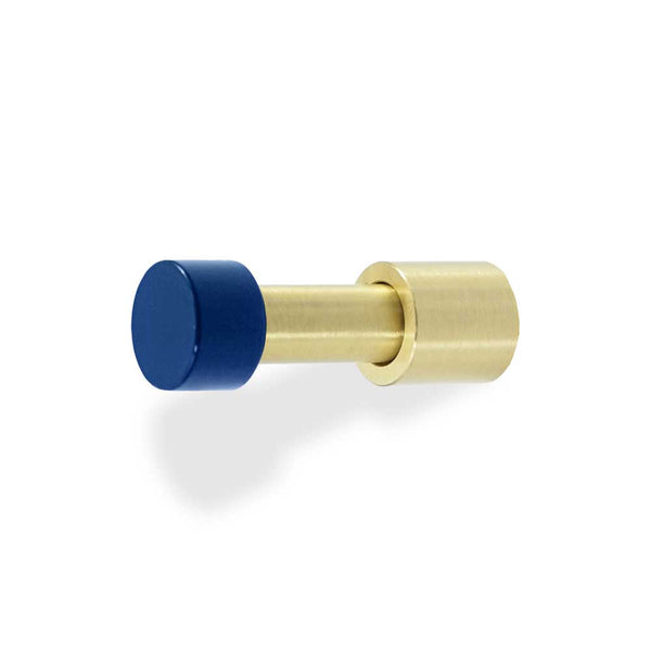 brass and cobalt stud wall hook dutton brown hardware