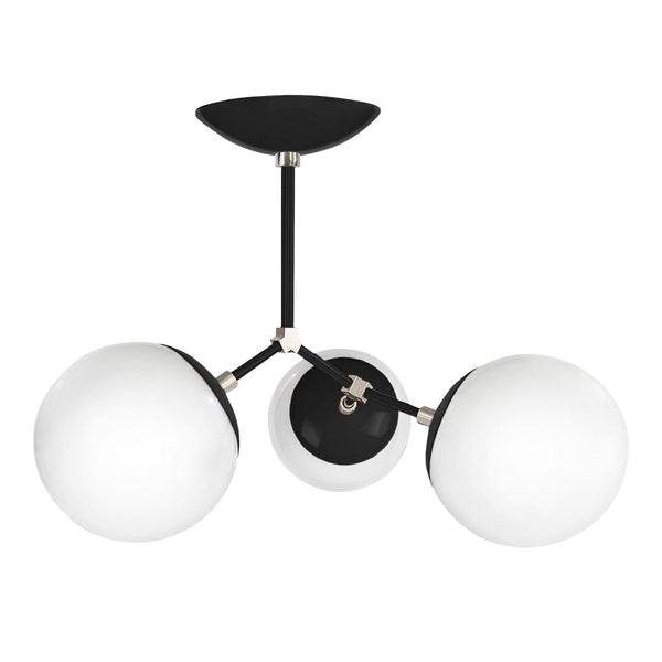 black nickel supreme globe flush mount lighting by dutton brown