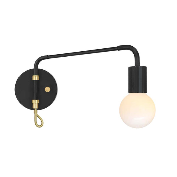 black brass sway adjustable swing arm sconce lighting