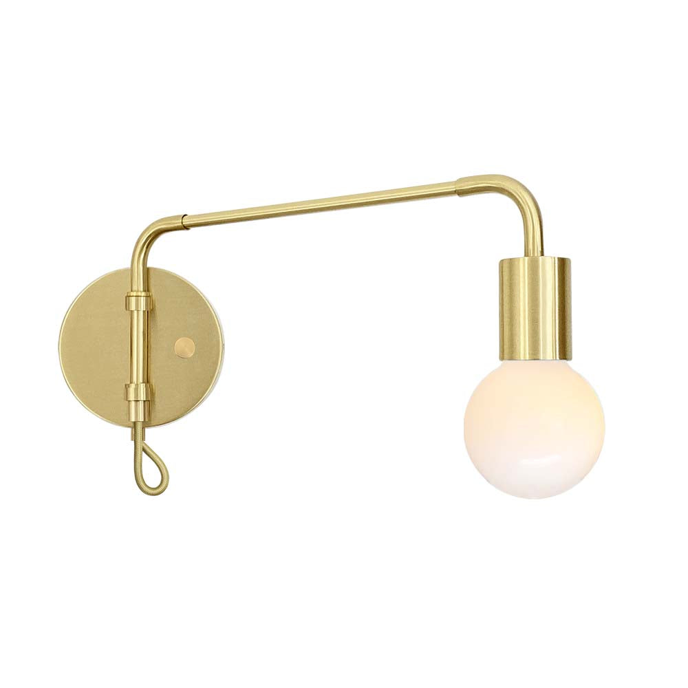 brass sway adjustable swing arm sconce lighting
