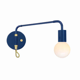 brass and cobalt sway adjustable wall sconce dutton brown lighting