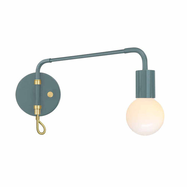 brass and lagoon sway adjustable wall sconce dutton brown lighting