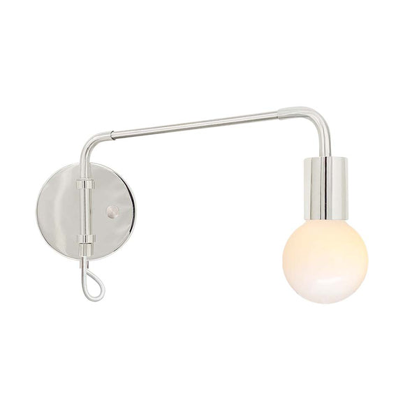 nickel sway adjustable swing arm sconce lighting