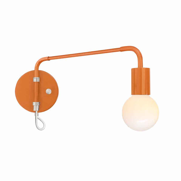 nickel and orange sway adjustable wall sconce dutton brown lighting
