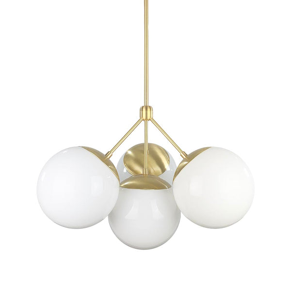 brass tetra globe chandelier lighting by dutton brown