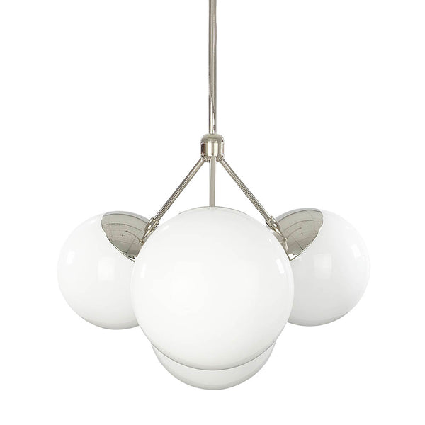 nickel tetra globe chandelier lighting by dutton brown