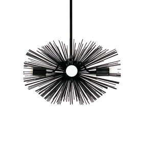 "black urchin chandelier 20"" lighting mid century modern dutton brown"