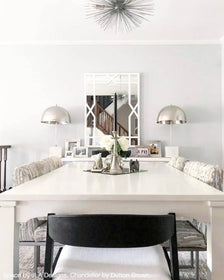 _hover silver urchin flush mount lighting by dutton brown dining room by jodi berger JLA Designs