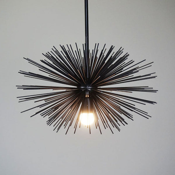"black urchin pendant chandelier lighting 20"" _hover"