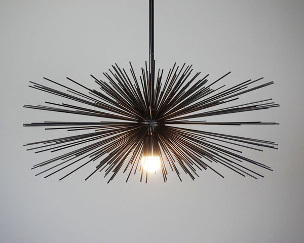 black urchin pendant chandelier lighting 27""
