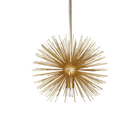 gold urchin pendant chandelier lighting 15""