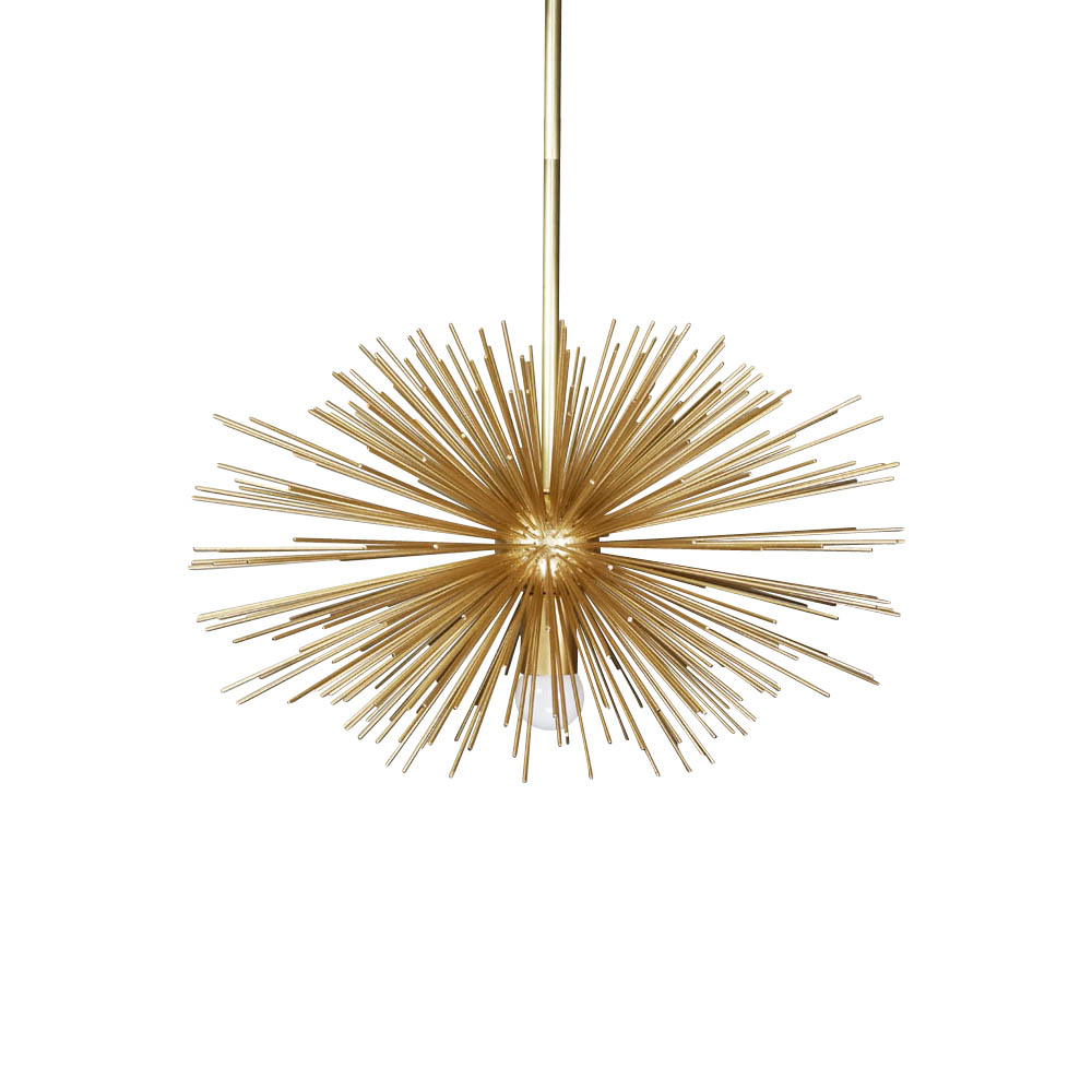 gold urchin pendant chandelier lighting 20""