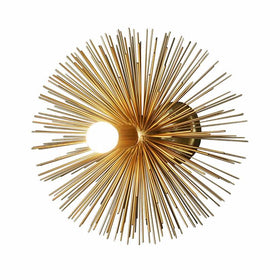 gold brass urchin wall sconce lighting
