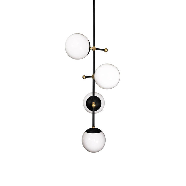 _hover black brass vertical deko globe chandelier sphere adornment