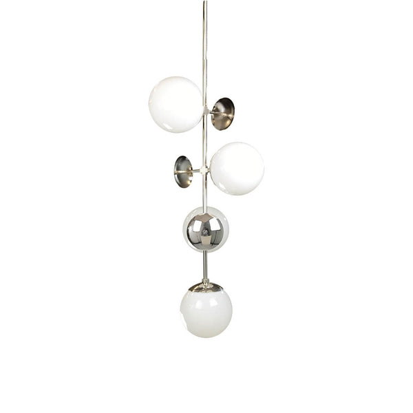 nickel vertical deko globe chandelier cap adornment