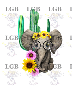 Elephant Sunflower Cactus Pink Yellow Flowers Png Download Little Glitter Bugs Llc Yellow sunflower flower illustration, common sunflower sunflower seed , flower advertisements. little glitter bugs