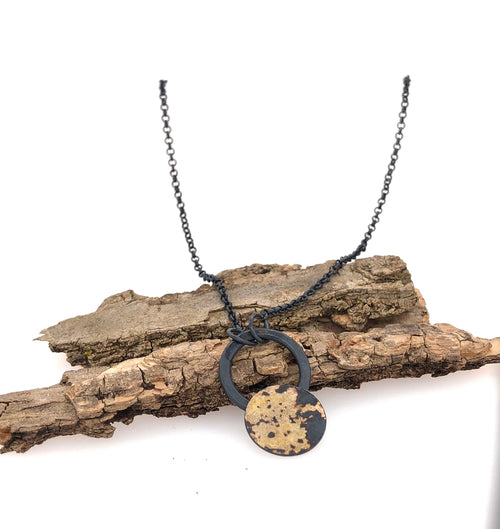 Black and Gold Dust Necklace