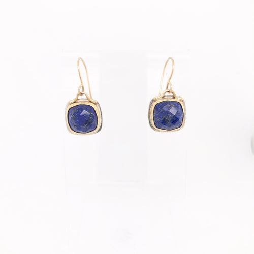 Lapis Lazuli With Gold Earrings