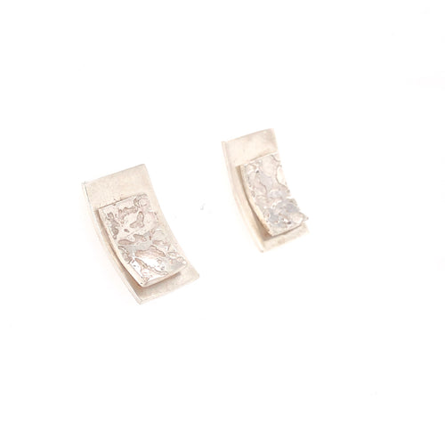 Contrasting Florals Bright Rectangle Earrings