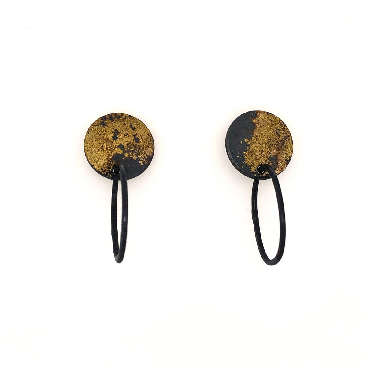 Black and Gold Chain Earrings