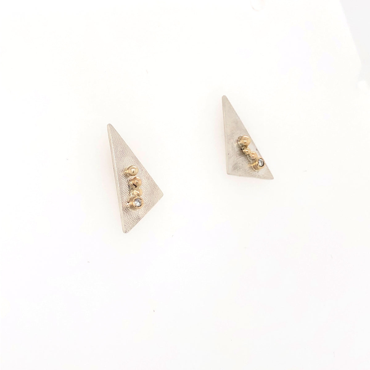 White and Gold Diamond Studs