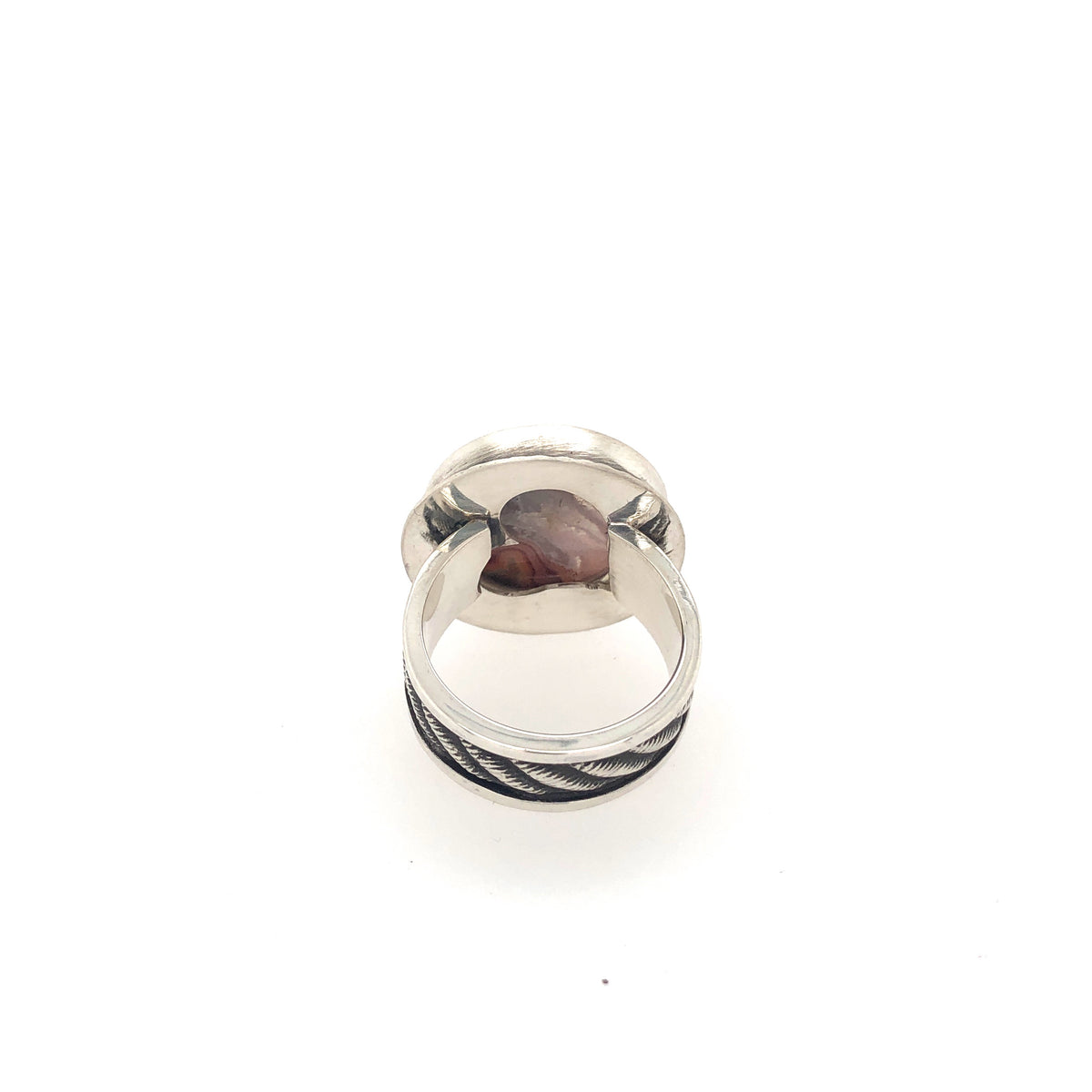 Teepee Canyon Agate Statement Ring
