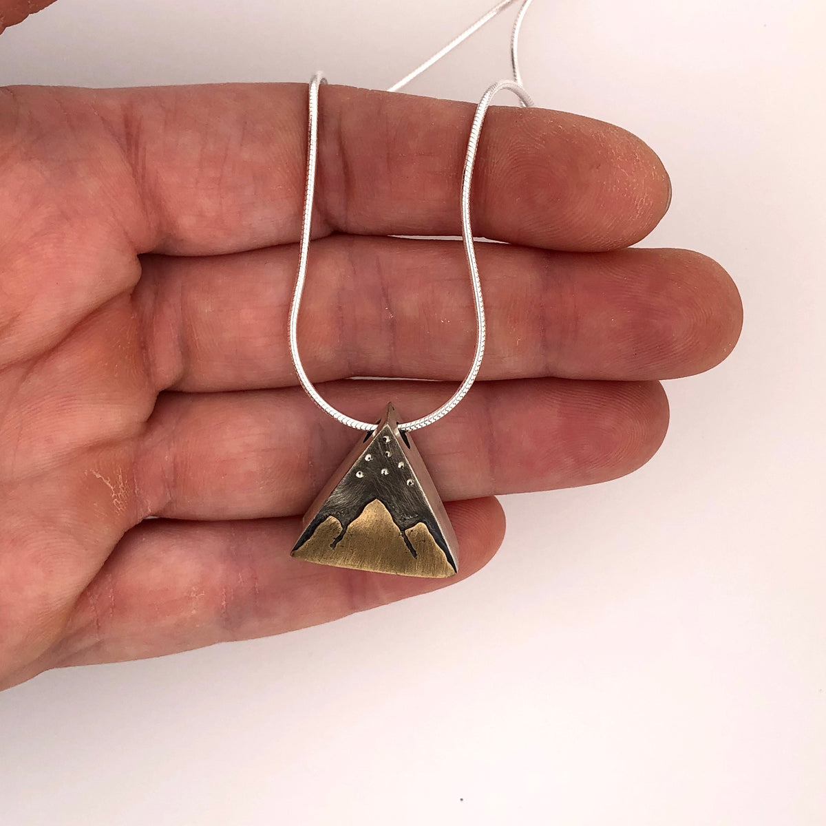 Triangular Hollow Mountain Pendant