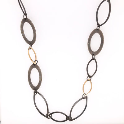 Black and Gold Long Chain