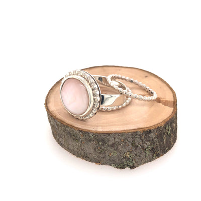 Pink Mother of Pearl Ring