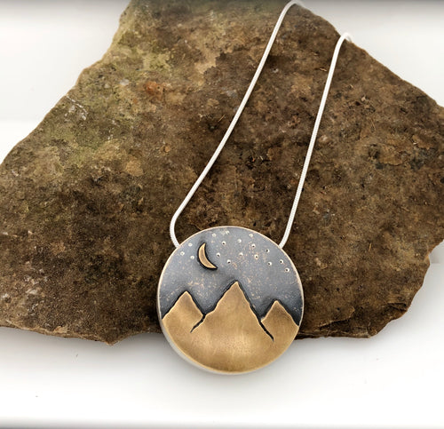 Circular Hollow Mountain Pendant