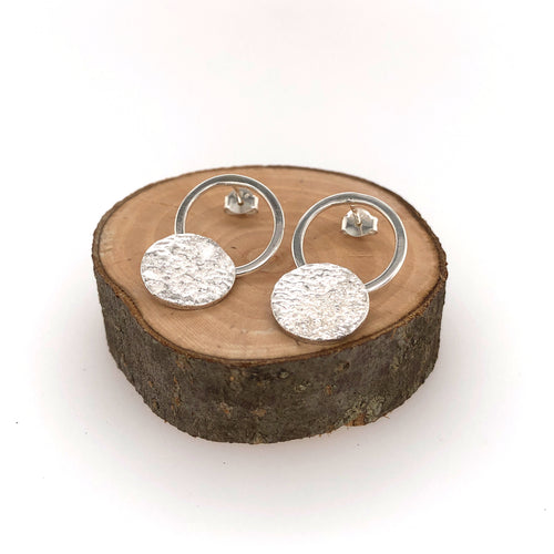 Reticulated Landscape Drop Earrings