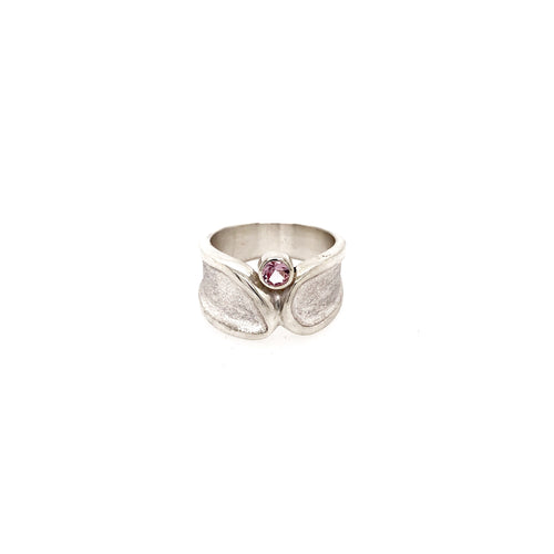Silver Ring with Pink Spinel