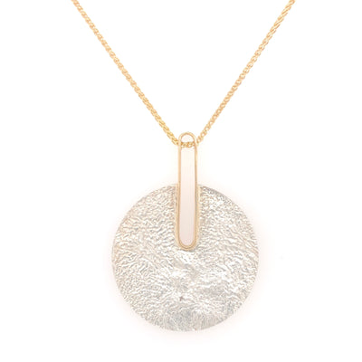 Reticulated Landscape and Gold Pendant