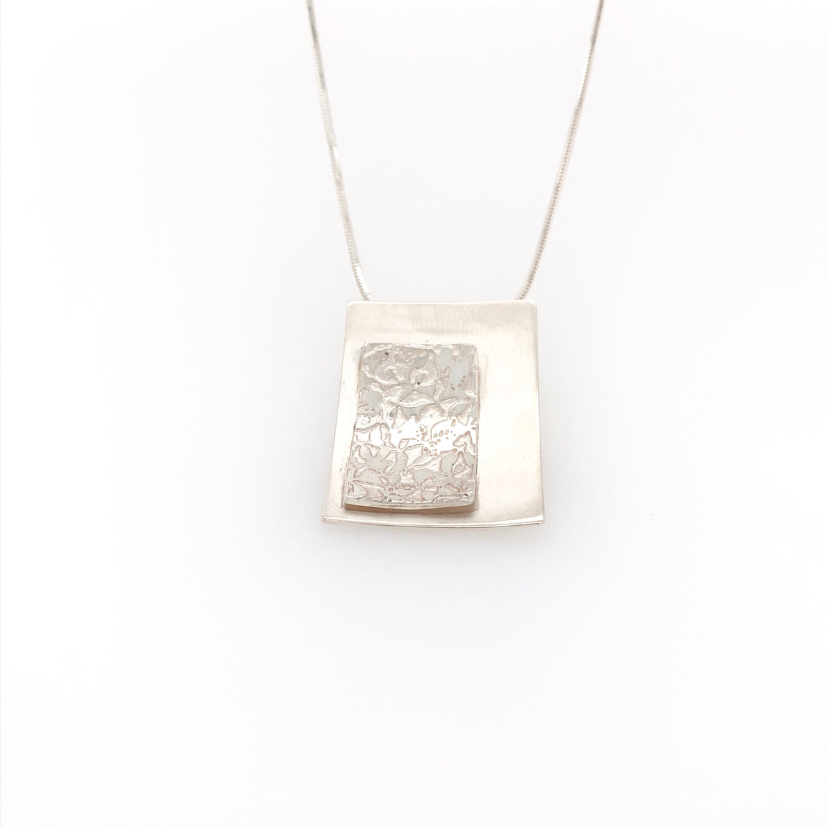 Contrasting Florals Bright Rectangle Pendant